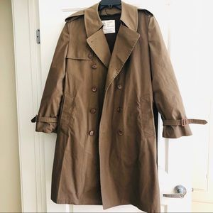 London Fog Winter Taupe Belted Trench Coat
